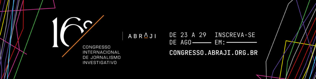 Banner do 16º Congresso da Abraji